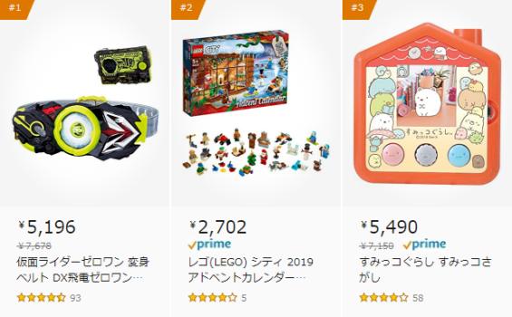 Amazonクリスマスギフト おもちゃ